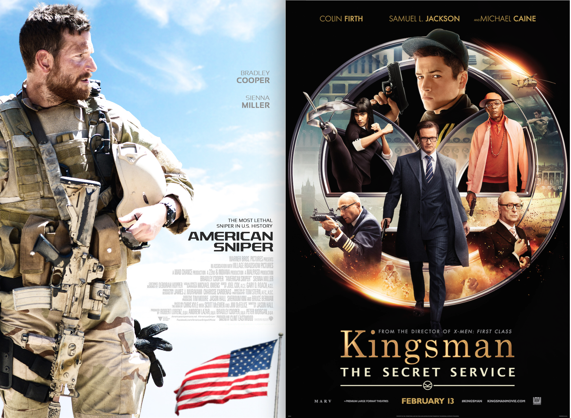 American Snipper and Kingsman